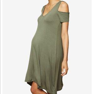 Cold Shoulder Maternity Dress